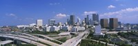 """High angle view of elevated roads with buildings in the background, Atlanta, Georgia, USA by Panoramic Images - 27"""" x 9"""""""