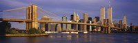 "Bridge over a river, Brooklyn Bridge, Manhattan, New York City, New York State, USA by Panoramic Images - 27"" x 9"""