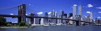 "Brooklyn Bridge Skyline New York City NY USA by Panoramic Images - 27"" x 9"""