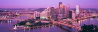 """Dusk, Pittsburgh, Pennsylvania, USA by Panoramic Images - 27"""" x 9"""""""