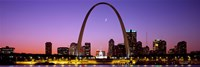 """Skyline, St. Louis, MO, USA by Panoramic Images - 27"""" x 9"""""""