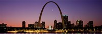 Night view of St Louis MO Fine Art Print