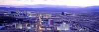 """Dusk The Strip Las Vegas NV USA by Panoramic Images - 27"""" x 9"""""""
