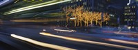 """Traffic On The Street At Night, Sixth Avenue, Manhattan, NYC, New York City, New York State, USA by Panoramic Images - 27"""" x 9"""""""