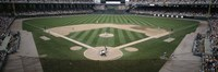 """Baseball match in progress, U.S. Cellular Field, Chicago, Cook County, Illinois, USA by Panoramic Images - 27"""" x 9"""", FulcrumGallery.com brand"""