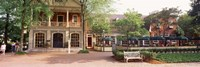 Tourist In Town Square, Williamsburg, Virginia, USA Fine Art Print