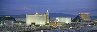 """Dusk The Strip Las Vegas NV by Panoramic Images - 27"""" x 9"""""""