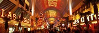 """Fremont Street Experience Las Vegas (horizontal) by Panoramic Images - 27"""" x 9"""""""