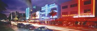 "Ocean Drive, Miami Beach, Miami, Florida, USA by Panoramic Images - 27"" x 9"""