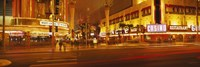 """Fremont Streeat at night, Las Vegas, Nevada by Panoramic Images - 27"""" x 9"""""""