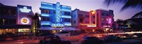 """Ocean Drive South Beach Miami FL USA by Panoramic Images - 27"""" x 9"""""""
