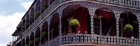 People sitting in a balcony, French Quarter, New Orleans, Louisiana, USA Fine Art Print