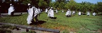 "USA, Washington DC, Korean War Memorial, Statues in the field by Panoramic Images - 27"" x 9"", FulcrumGallery.com brand"