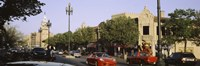 """USA, Missouri, Kansas, Country Club Plaza, Traffic on the road by Panoramic Images - 27"""" x 9"""""""