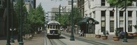 """Main Street Trolley Court Square Memphis TN by Panoramic Images - 27"""" x 9"""""""