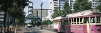 """Main Street Trolley Memphis TN by Panoramic Images - 27"""" x 9"""""""