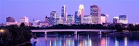 Minneapolis in Purple Fine Art Print