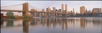 "Brooklyn Bridge Manhattan New York City NY by Panoramic Images - 27"" x 9"""