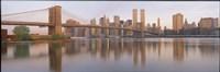 "Brooklyn Bridge Manhattan New York City NY by Panoramic Images - 27"" x 9"""