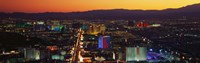 """Hotels Las Vegas NV by Panoramic Images - 27"""" x 9"""", FulcrumGallery.com brand"""