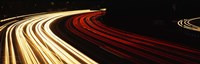 """Hollywood Freeway at Night CA by Panoramic Images - 27"""" x 9"""""""