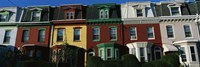 """Row Houses Philadelphia PA by Panoramic Images - 27"""" x 9"""" - $28.99"""