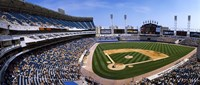 """High angle view of a baseball stadium, U.S. Cellular Field, Chicago, Cook County, Illinois, USA by Panoramic Images - 27"""" x 9"""""""