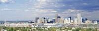 "USA, Colorado, Denver, Invesco Stadium, High angle view of the city by Panoramic Images - 27"" x 9"""