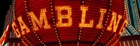 Close-up of a neon sign of gambling, Las Vegas Fine Art Print