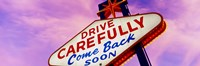 """Sign, Las Vegas Nevada, USA by Panoramic Images - 27"""" x 9"""", FulcrumGallery.com brand"""