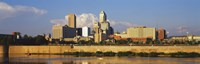"""Buildings at the waterfront, White River, Indianapolis, Marion County, Indiana, USA by Panoramic Images - 27"""" x 9"""", FulcrumGallery.com brand"""