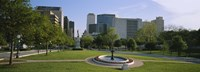 """Fountain In A Park, Austin, Texas, USA by Panoramic Images - 27"""" x 9"""", FulcrumGallery.com brand"""