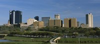 """Buildings in a city, Fort Worth, Texas by Panoramic Images - 27"""" x 12"""""""