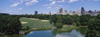 "Great Lawn, Central Park, Manhattan, NYC, New York City, New York State, USA by Panoramic Images - 27"" x 9"""