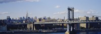 "Bridge over a river, Manhattan Bridge, Manhattan, New York City by Panoramic Images - 27"" x 9"""
