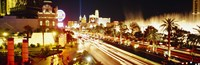 """Buildings in a city lit up at night, Las Vegas, Nevada by Panoramic Images - 27"""" x 9"""", FulcrumGallery.com brand"""