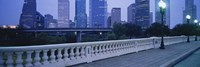 """Houston at dusk, Texas by Panoramic Images - 27"""" x 9"""", FulcrumGallery.com brand"""