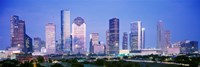 Houston Skyline Lit Up, Texas Fine Art Print