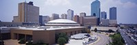 """High Angle View Of Office Buildings In A City, Dallas, Texas, USA by Panoramic Images - 27"""" x 9"""" - $28.99"""