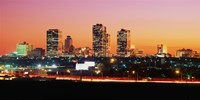 Fort Worth at dusk, Texas Fine Art Print