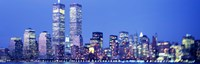 "Evening, Lower Manhattan, NYC, New York City, New York State, USA by Panoramic Images - 27"" x 9"""