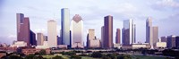 """Houston, Texas Skyline by Panoramic Images - 27"""" x 9"""", FulcrumGallery.com brand"""