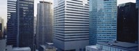 """Close up of skyscrapers in Manhattan, New York City, New York State, USA by Panoramic Images - 27"""" x 9"""""""