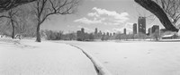 """Buildings in a city, Lincoln Park, Chicago, Illinois, USA by Panoramic Images - 27"""" x 9"""""""