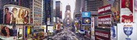 """Dusk, Times Square, NYC, New York City, New York State, USA by Panoramic Images - 27"""" x 9"""""""
