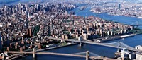 "Brooklyn Bridge and Manhatten by Panoramic Images - 27"" x 9"""
