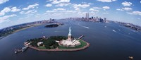 """Bird's Eye View of the Statue of Liberty by Panoramic Images - 27"""" x 9"""", FulcrumGallery.com brand"""