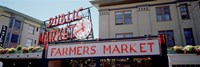 """Low angle view of buildings in a market, Pike Place Market, Seattle, Washington State, USA by Panoramic Images - 27"""" x 9"""""""