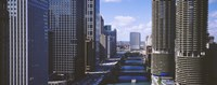 """USA, Illinois, Chicago, Chicago River by Panoramic Images - 27"""" x 9"""""""