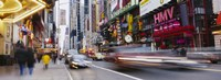 """Traffic on the street, 42nd Street, Manhattan, New York City, New York State, USA by Panoramic Images - 27"""" x 9"""""""